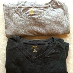 2 long sleeve Ralph Lauren t-shirts